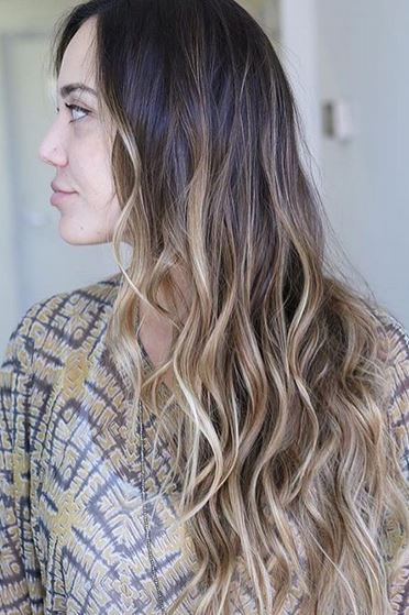 caramel-balayage-on-brunette-hair